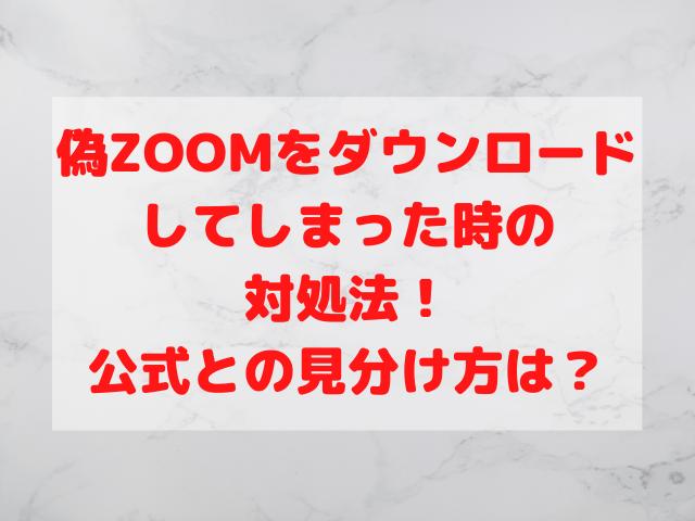偽ZOOMをダウンロードしてしまった時の対処法!公式との見分け方は?